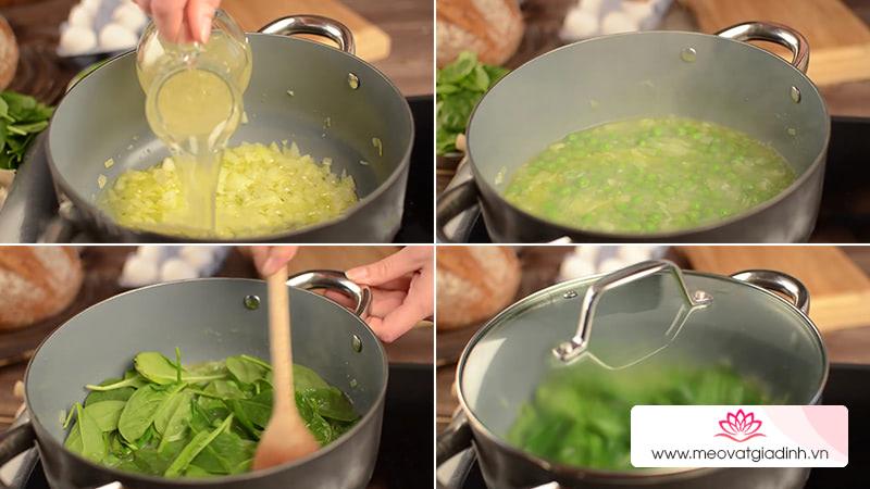 Bước 2: Nấu chín nguyên liệu